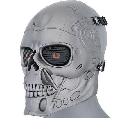 Silver Terminator Mesh Metal Mask