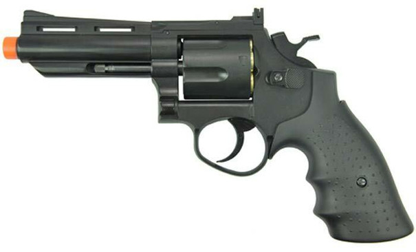 HFC HG-132 4 Barrel Gas Revolver, Black
