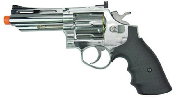HFC HG-132 4 Barrel Gas Revolver, Silver