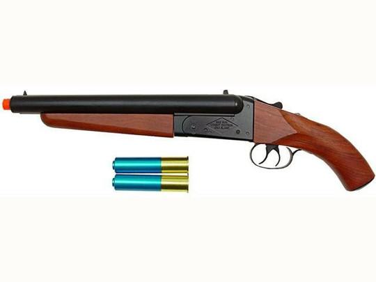 Break-Action Double Barrel Gas Airsoft Shotgun