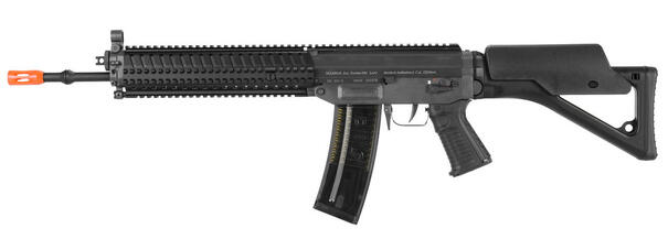 ICS SIG 551 MRS RIS AEG Airsoft Rifle, Black