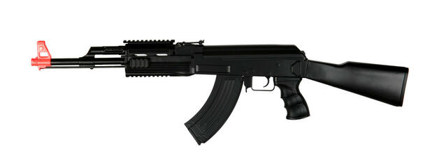 Tactical AK47 Plastic RIS Fixed Stock Electric Airsoft Rifle