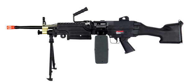 AandK M249 MKII AEG Airsoft SAW with Bipod and Box Magazine