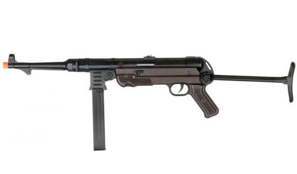 AGM MP40 Full Metal SMG Airsoft Rifle, Black / Faux Wood