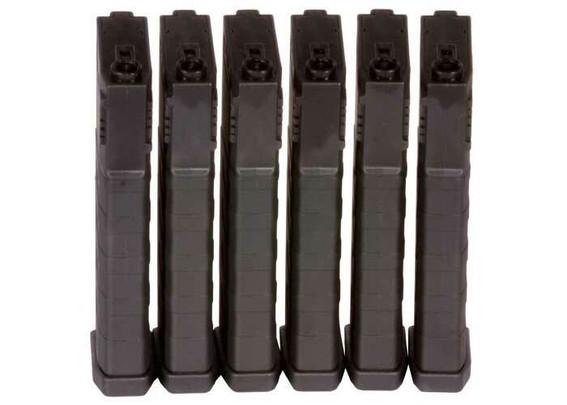 KWA K120 Polymer Midcap Magazine for M4 / M16 Series Airsoft AEG Rifles, 6ct