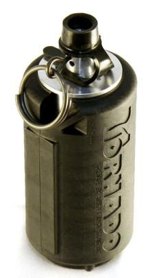 AI Tornado Grenade, Gas Powered Airsoft Grenade by Airsoft Innovations, Black