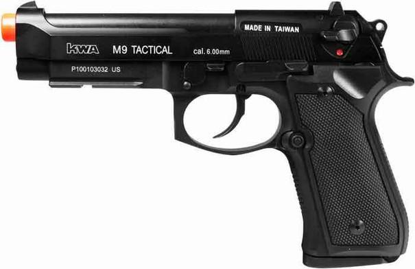 KWA M9 Tactical PTP Metal Gas Blowback Pistol, Railed Frame