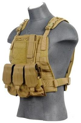 Lancer Tactical Molle Plate Carrier Vest in Tan