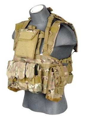 Lancer Tactical CA-307C Modular Chest Rig in Camo