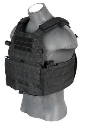 Lancer Tactical 6094 Plate Carrier Vest, Black