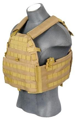 Lancer Tactical CA-311T 6094 Plate Carrier Vest, Coyote Brown