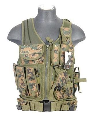 Lancer Tactical Cross Draw Tactical Vest, Digital MARPAT