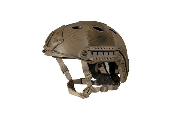 Lancer Tactical SpecOps Military Style Helmet, PJ Type with Rails and Velcro, Navy Seal Custom Tan