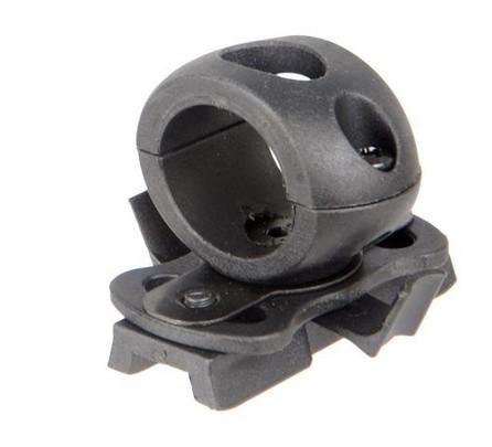 Lancer Tactical SpecOps Military Style Helmet 20mm Rail Flashlight Clamp, Black