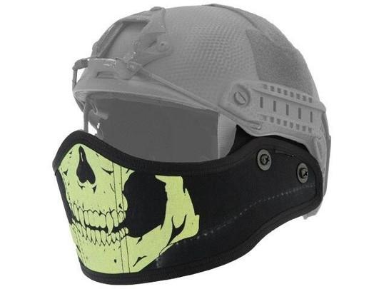 Lancer Tactical SpecOps Military Style Helmet Face Mask, Black Skull