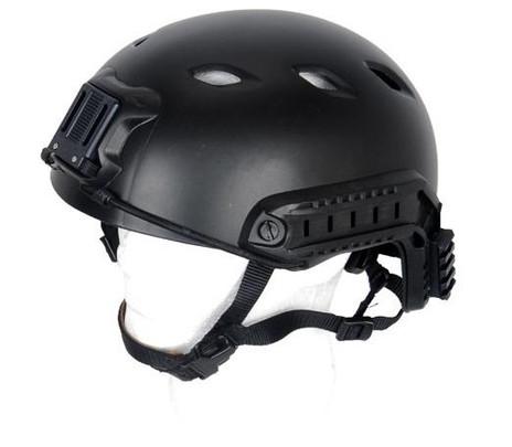Lancer Tactical SpecOps Military Style NVG Helmet w/ Rails, Black