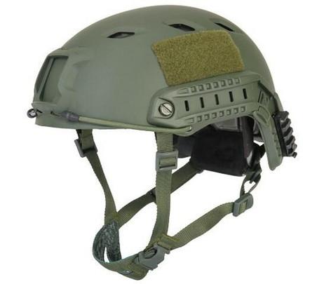 Lancer Tactical SpecOps Military Style NVG Helmet w/ Rails, OD Green