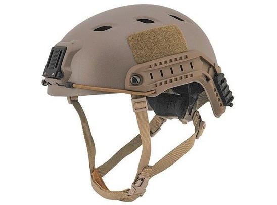 Lancer Tactical SpecOps Military Style NVG Helmet w/ Rails, Tan