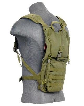 Lancer Tactical Lightweight Hydration Pack, OD Green