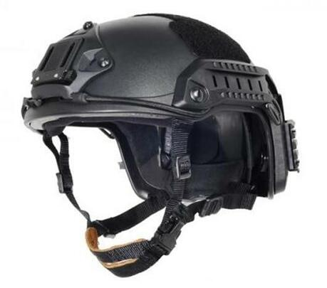 Lancer Tactical Maritime SpecOps Military Style Helmet w/ NVG Mount - Black