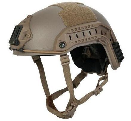 Lancer Tactical Maritime SpecOps Military Style Helmet w/ NVG Mount - Tan
