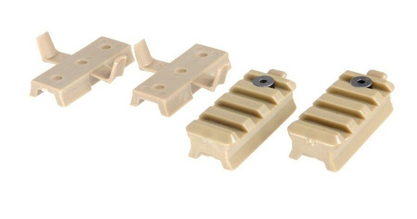 Lancer Tactical Helmet Rail Mount Kit for Railed SpecOps Military Style and MICH Helmets, Tan