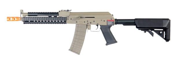 Lancer Tactical RIS AK Tactical AEG Airsoft Gun, Tan