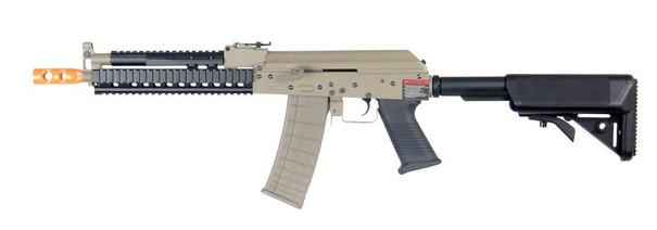 Lancer Tactical RIS AK Full Metal Tactical AEG Airsoft Gun, Tan