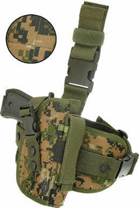 Leapers Special Ops Universal Tactical Leg Holster, Woodland Digital Camo