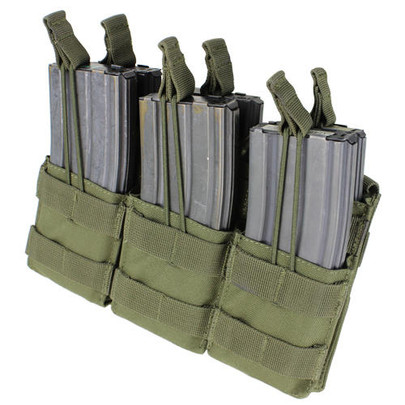 MA44 Triple Stacker M4 Mag Pouch, OD Green