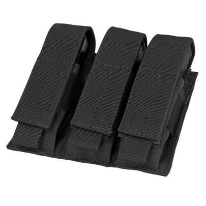 MA52 Triple Pistol Mag Pouch, Black