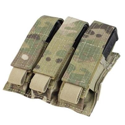 MA52 Triple Pistol Mag Pouch, Multicam