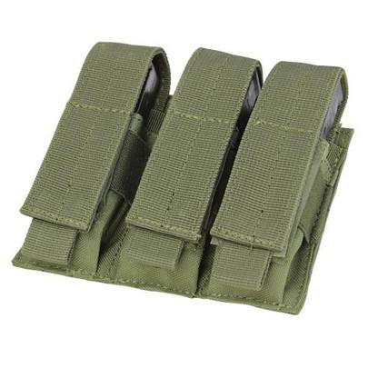 MA52 Triple Pistol Mag Pouch, OD Green