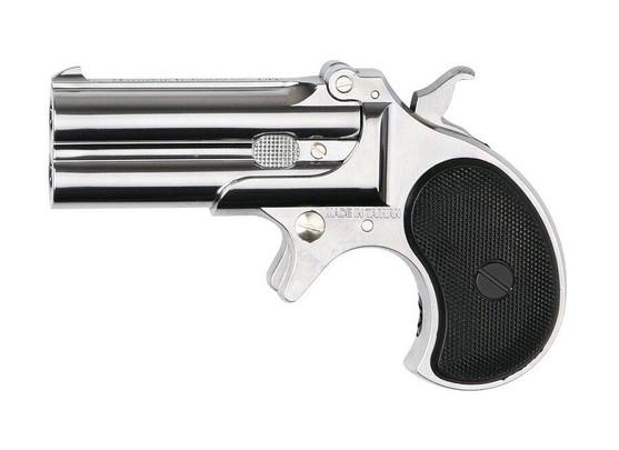 Marushin Derringer Compact Gas Pistol, Chrome Finish