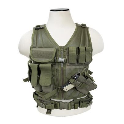 NC Star Childrens Tactical Vest, OD Green