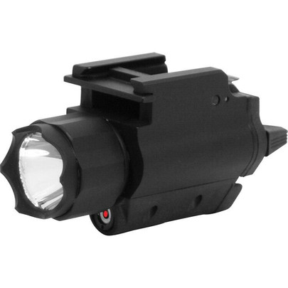 NC Star Tactical Flashlight and Laser Combo, 3W 200 Lumens, Weaver Mount