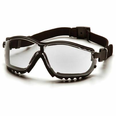 Pyramex V2G Airsoft Goggles, Clear Lens, Elastic Strap