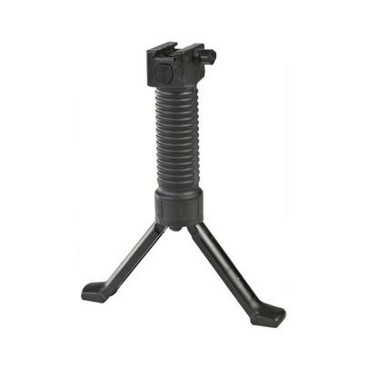 Rapid Deploy MK16 Bipod Airsoft Foregrip For 20mm Rails, Grip Pod, Black