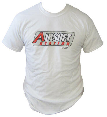 Airsoft Station T-Shirt, White, Old Logo
