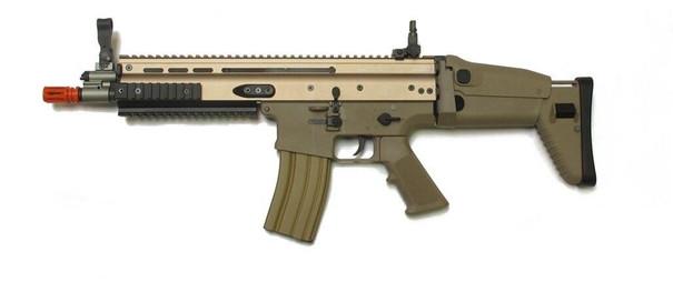 WE SCAR Gas Blowback Rifle, Tan
