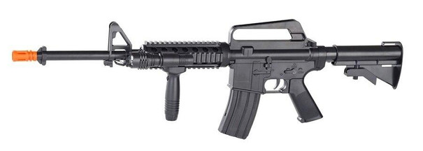Smith and Wesson MandP15 Spring Powered Airsoft Rifle w/ Tactical Flashlight