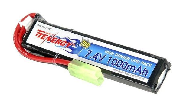 Tenergy 7.4V 1000 mAh 20C High Discharge LiPO Stick Battery