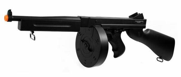 Thompson M1A1 Military AEG with Drum Magazine by Cybergun