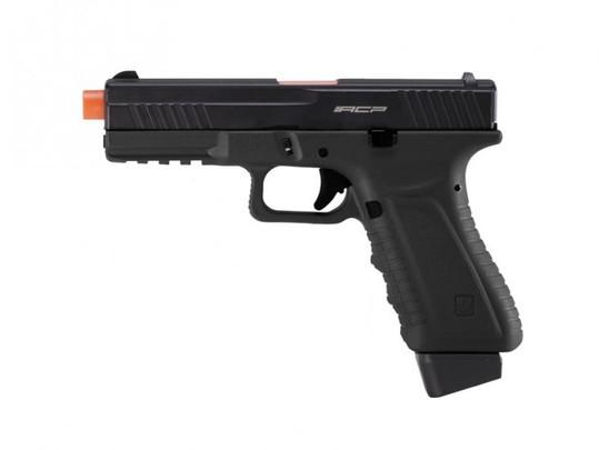 APS ACP601 CO2 Blowback Airsoft Pistol, Black