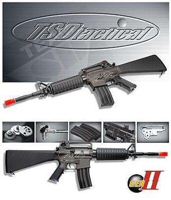 TSD Tactical Gen-II AEG model SR4 A1 All-Metal TSD-SDGE0501F2