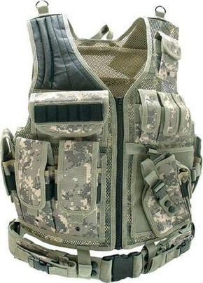 UTG Airsoft Deluxe Tactical Vest Digital Army Digital Camo