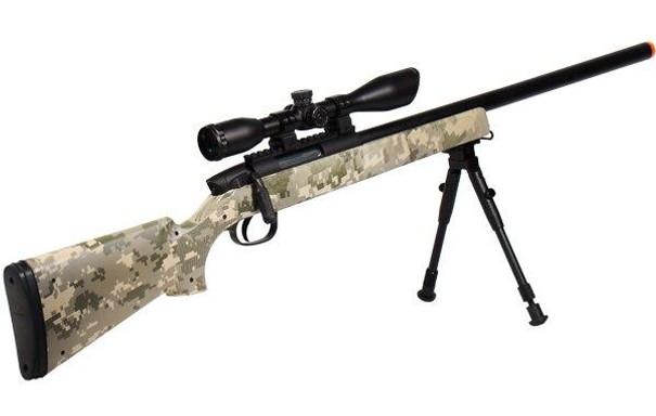 UTG Master Sniper Airsoft Rifle Kit, Army Digital Camo