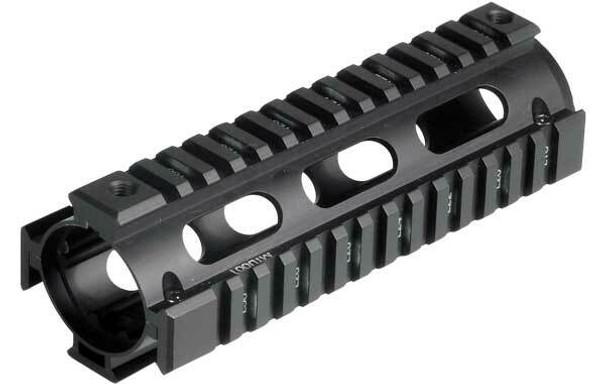 UTG Pro M4 Carbine Length Quad Rail System, RIS, Black