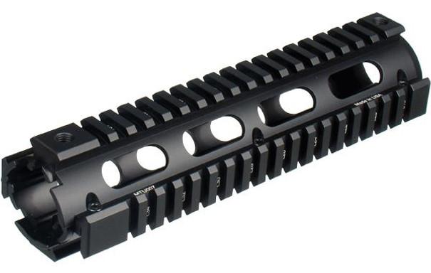 UTG PRO Model 4/15 Mid Length Quad Rail System, RIS, Black