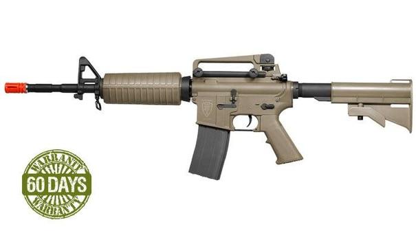 High Velocity Elite Force M4A1 AEG Airsoft Rifle, Dark Earth Brown